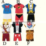 high quality summer cartoon short sleeve baby boy suits