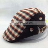 Wholesale Fashion Plaid Duckbill Ivy Caps and Hats with Double Buckle Adjustment for adult