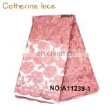 Catherine Wholesale Products Beading Embroidery French Lace Farbic With Flowers