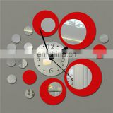 Stylish DIY Wall Clock Decorative Mirror Sticker Clocks