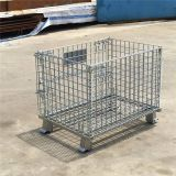 Large stack welded metal wire mesh transport storage cage for clothing