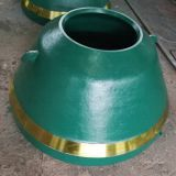 replacement parts of high manganese steel suit gp100 metso cone crusher