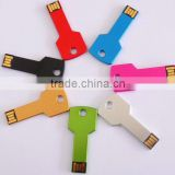 Colorful Metal key shaped USB 2.0,Key USB Drive with laser logo printing, Key USB Disk custom logo key usb