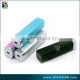 Aluminum alloy shell 2200mAh external battery pack high capacity power bank charger 5V 1A output and 3.7-4.2V 0.5A input