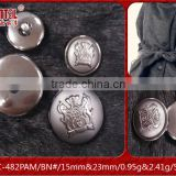 Hot sale ABS plating button manufacturer for women's coat