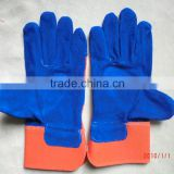 en388 standard cow spilt leather industrial safety working gloves manufacturers in gaozhou