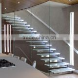 N166 OEM & ODM Tempered Glass Stairs, Impression Custom Lighting Tempered Glass Panel Stairs Wholesale