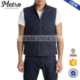 Stylish Wholesale Navy Mens Cotton Canvas Vest