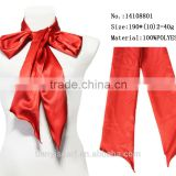 2016 red satin girls party dresses neck tie scarf christmas ornaments scarf