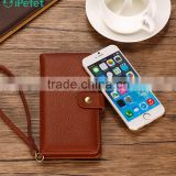 Universal Litchi Pattern Magnetic Flip Leather Case With Card Slots For Mobile Phone,For Samsung S7