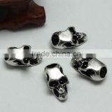 Lead Free Nickle Free Zinc Alloy Pdora Skull Shape Jewelry Hole Beads for Bracelets and Necklaces                                                                         Quality Choice