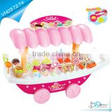 Funny Plastic Girl Sweet Candy Cart Toys With Light And Music