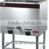 Floor Type 2 Tank Double Baskets Gas Fryer|Stainless Steel Commcerial Chicken Frying Machine Deep Fryer