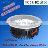Surface mounted recessed die-casting aluminium AC100-240V AC85-265V COB LED Down Light