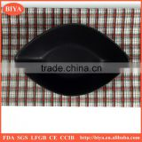 ceramic dishes black and white porcelain leaf shape dish and plate for seasoning oil juice or soy sauce dish