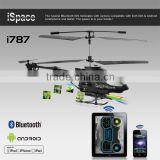 Super High Quality iSpace Stable with Gyro 3.5channel bluetooth outdoor android and apple system control camera toys helicopter