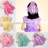 Hot-sales kids princess hair bows pretty boutique s hair bow for girls fit dress and skirt CB-3681