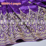 purple African ladies embroidery george, 2015 new george wrapper fabric for GB001-4