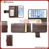 Retro style phone wallet cover for iphone5 custome pattern case