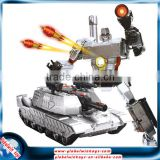 Cool transformable robot, rc fighting robot with soft bullet gun and sound, 1/10 2.4G 6CH rc tank