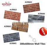 Ruicheng 300*600mm Hot facing stone Red brick design wall ties
