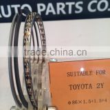 engine part piston ring for TOYOTA 2Y 86MM