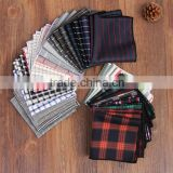 Fashionable men pocket,plaid handkerchief,Cotton grid squares