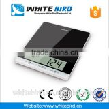 5kg/1g electronic digital count down timer tempered glass surface kitchen scale                                                                         Quality Choice