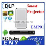 ENY-EMP01 Rk3128 quad core 1GB RAM 8GB ROM Mini DLP Android MINI smart portable projector bluetooth4.0 portable projector
