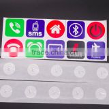 Hot Sale PET NFC Tag Stickers Adhesive RFID Tags Label 6 DIfferent Colors Alarm Clock Control All Phones