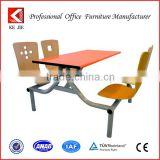 4-Seaters fast food resturant table and chairs set,resturant table and chair for school canteen,Student dining table and chairs