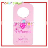Pink princess Decorative door hanger wood sign, wood crafts door hanging sign for kids room decoration