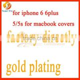 factory directly for iphone 6 6plus 5s 5 luxury gold back cover housing ,testing perfect