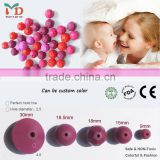 Silicone Teething Baby Beads/Food Grade Chewing Bulk Loose Beads For Baby Nursing Necklace Jewelry DIY