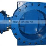 Flange type Double eccentric butterfly valve with gearbox and handwheel