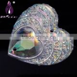 Sew On Rhinestone 25mm Heart Shape, sew on Resin accessories, Resin for garment                                                                         Quality Choice