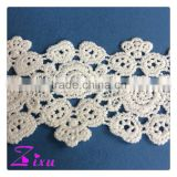 China supplier water soluble milky yarn lace for wedding dress                                                                                                         Supplier's Choice