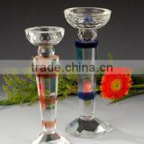 Colorful Crystal Candle Holders Wholesale Glass Wedding Candle Holderts Decoration Candle Holder