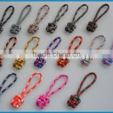 Wholesale Custom Design Handmade Paracod Knotted Monkey Fist Zipper Puller Reflective Zipper Puller