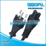 Switzerland power cord plug D13/IEC320-C5