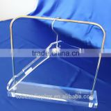 Custom high end acrylic clothes hanger, plastic clothes hangers