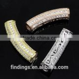 SJ3121 Silver micro perforated tube, wholesale micro pave jewelry, high quality cz jewelry