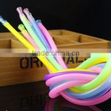 Multi colour Disposable Hygienic Food-grade Soft Flexible Shisha Hookah Silicone Tube,5*7m FDA silicone Shisha Hookah Hose Pipes