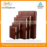 High-end meeting notebook with snap fastener leather notebook                                                                         Quality Choice