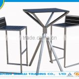 outdoor patio stainless steel garden table and bench set furniture
