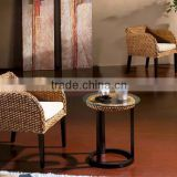 Wicker coffee chair with water hyacinth material