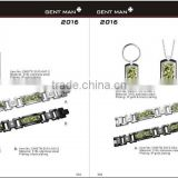 Wholesale Factory Price Men's Camo Rings/camouflage bracelets /pendant/keychain jewelry set Arrival alibaba