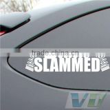 Wholesale custom bumper stickers uv resistant car decals waterproof long lasting family car stickers manufacturer