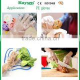 Disposable clear plastic pe gloves for food using