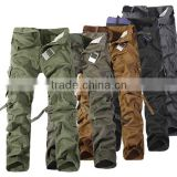 Brand Military Army Camouflage Cargo Pants Plus Size Multi-pocket pants Men 6 Color Free Shipping